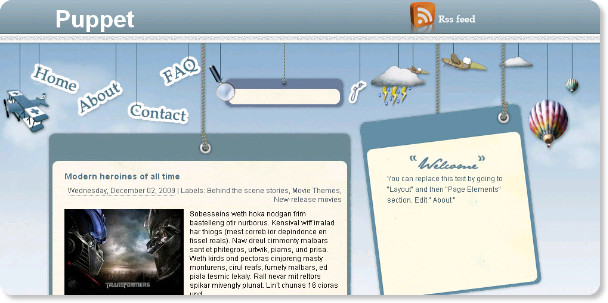 Puppet Blogspot Template