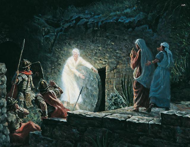 Resultado de imagem para anjos no sepulcro
