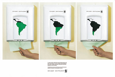 WWF: Paper Dispenser :  earth-friendly bathroom organic gadget