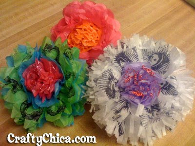 Paper Flowers for Mother's Day :  earth-friendly mothers day gift paper flower