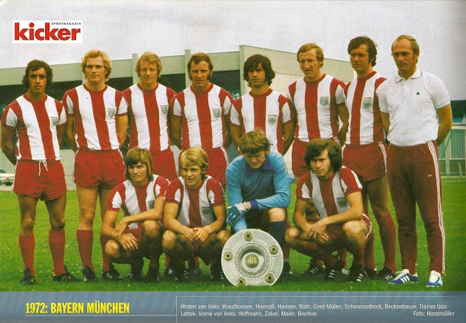 BAYERN MUNICH 1971-72. By Bergmann.