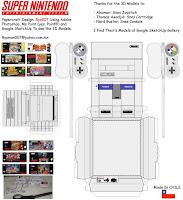 Imagem para montar seu Super Nintendo de papel