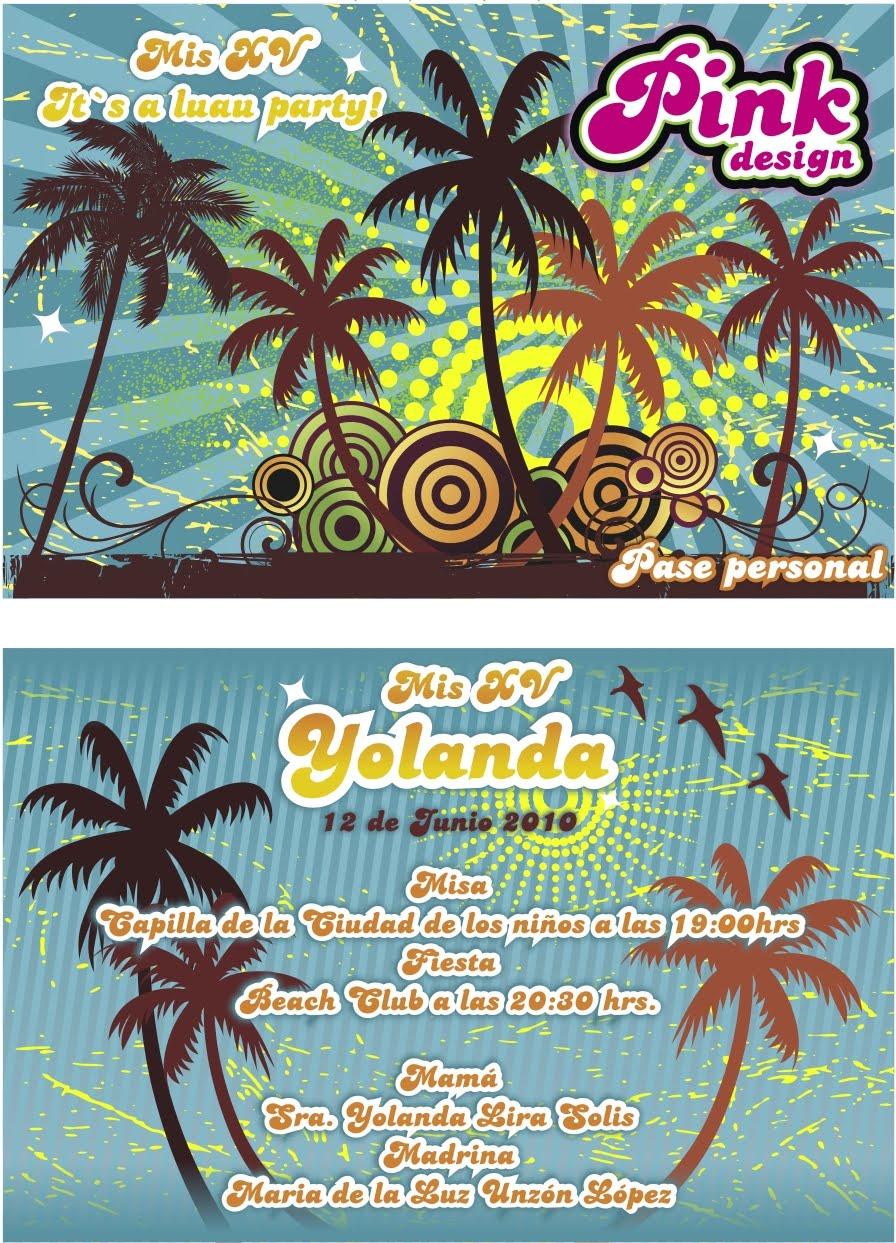 Pink Design Invitaciones Julio 2010