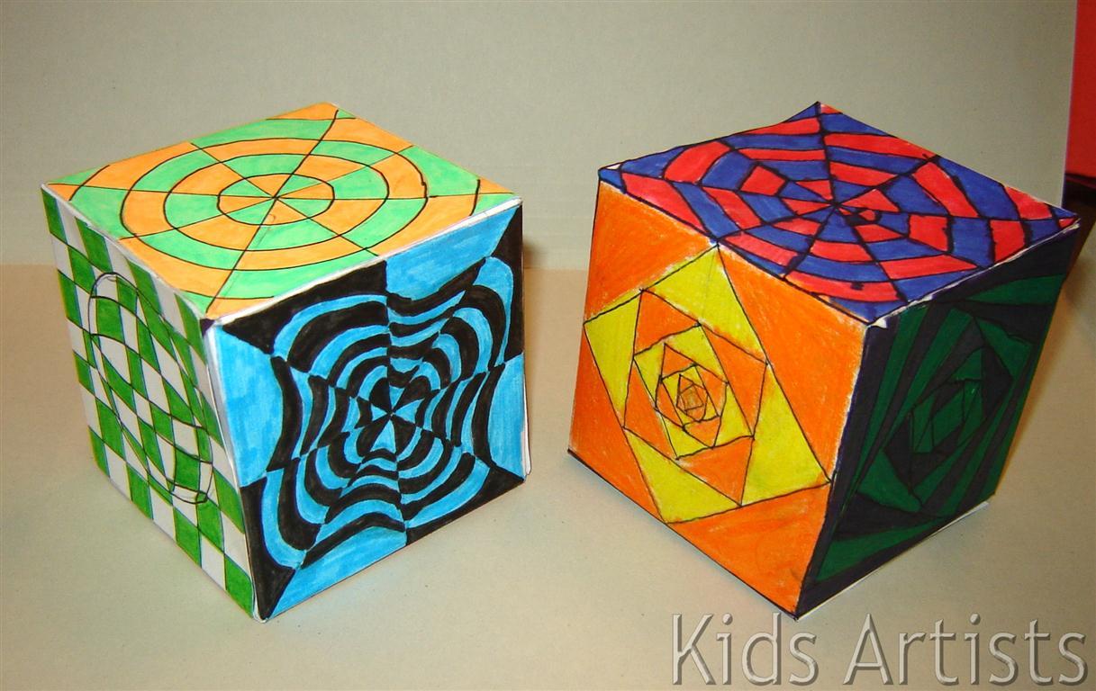 Kids Artists Op Art Cube