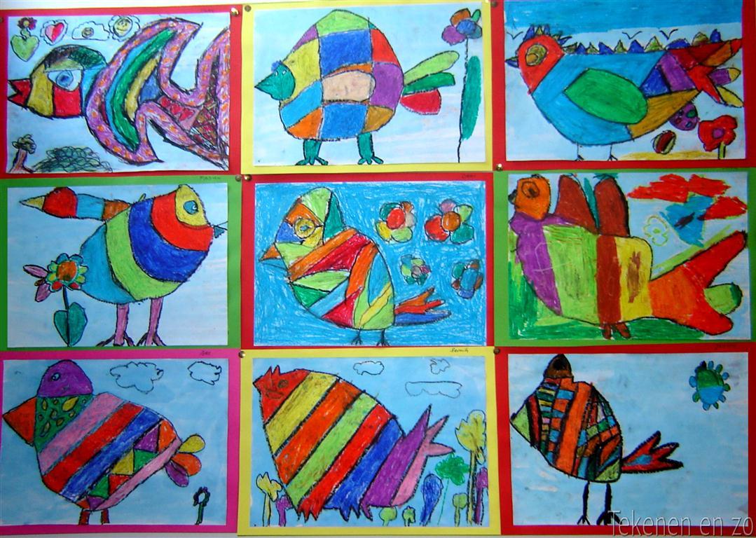 Genoeg Tekenen en zo: Vogels in de stijl van Corneille (2e les) #PO73