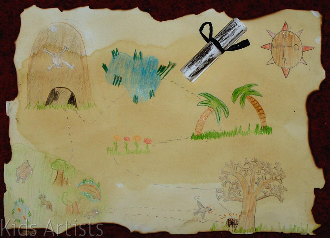 Kids Artists Treasure Map
