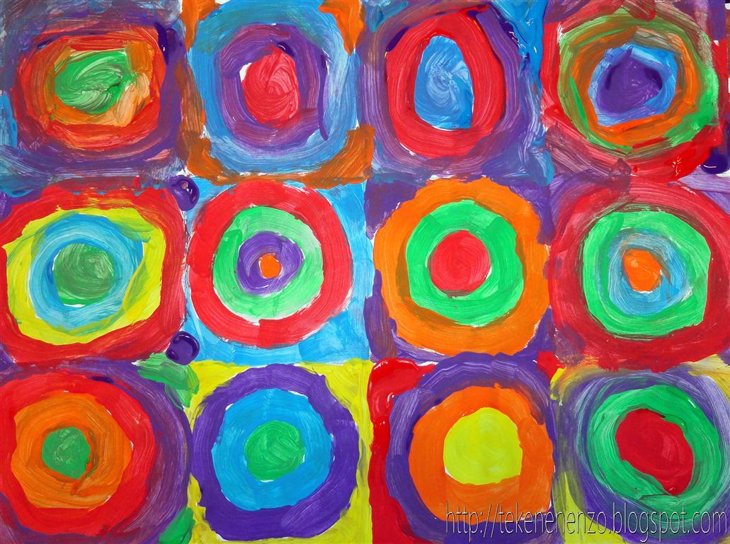 Magnifiek Tekenen en zo: Concentrische cirkels in de stijl van Kandinsky @EU66