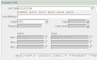 apex report Column Link, target=URL