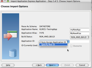 apex application import option