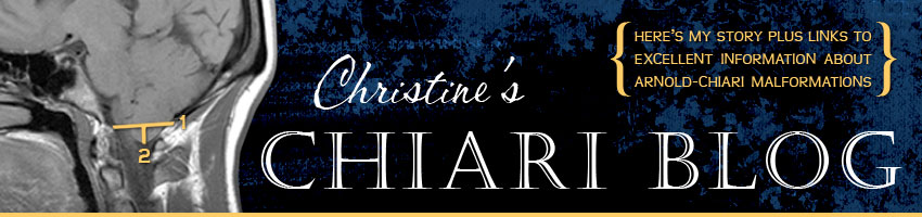 Christine's Chiari Blog