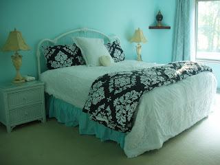 Bella Casa Beautiful Home Tiffany Box Blue Aqua Master Bedroom Redo