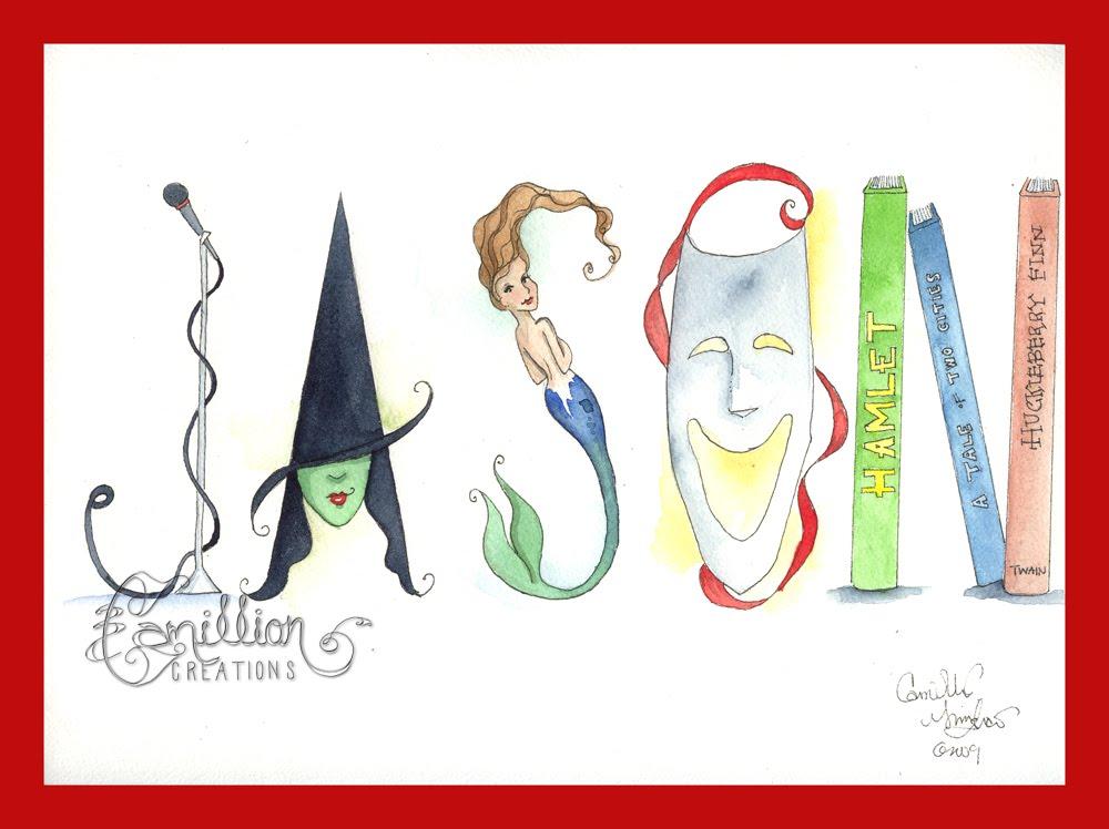 Name Art: Watercolored Mermaid: Name Art Give Away