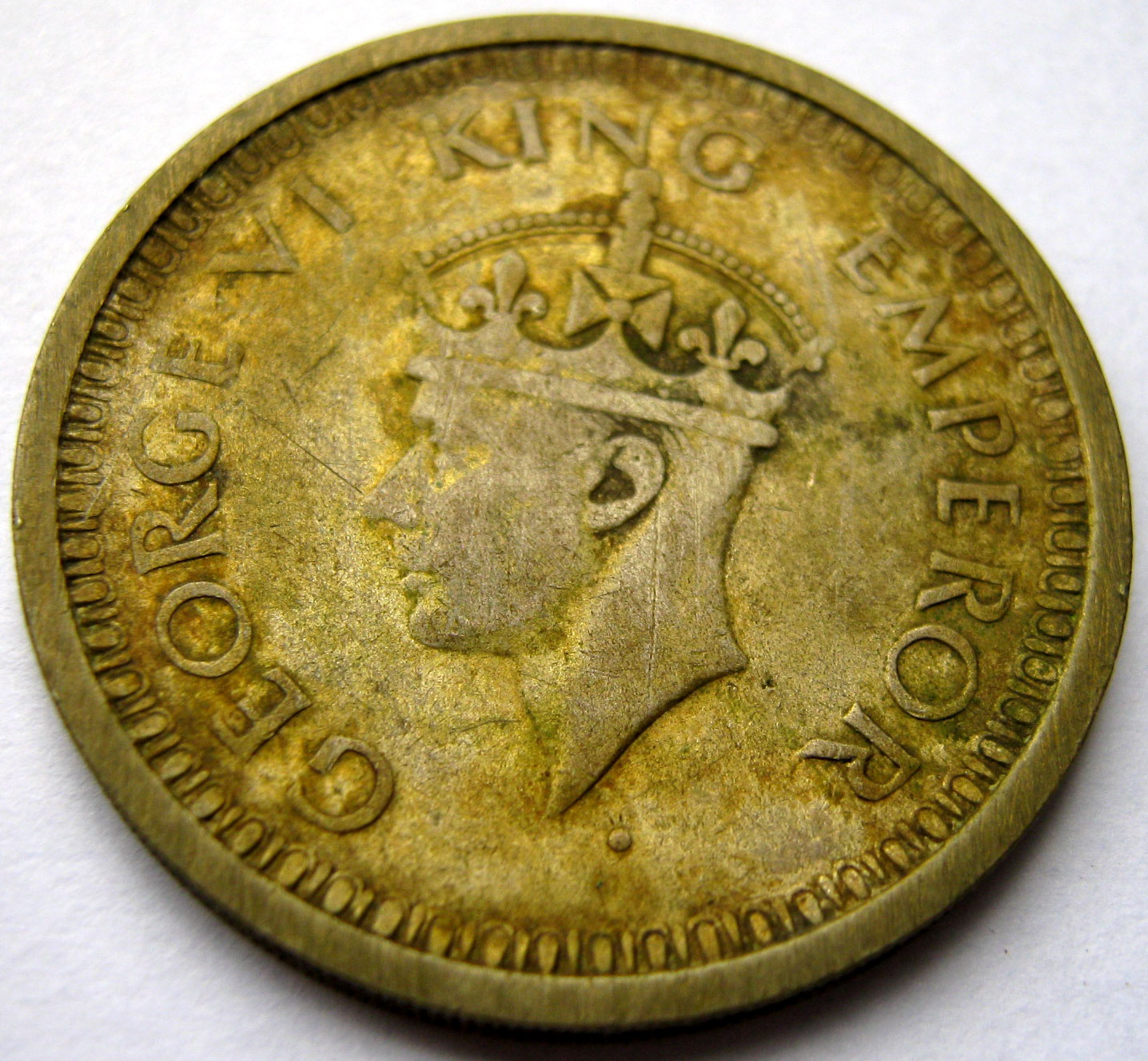 Coins Of India 1940 1945 King George Vi