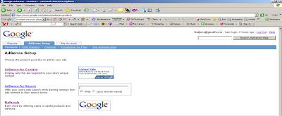 google adsense main page