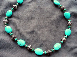 Turquoise and Copper Patina Necklace