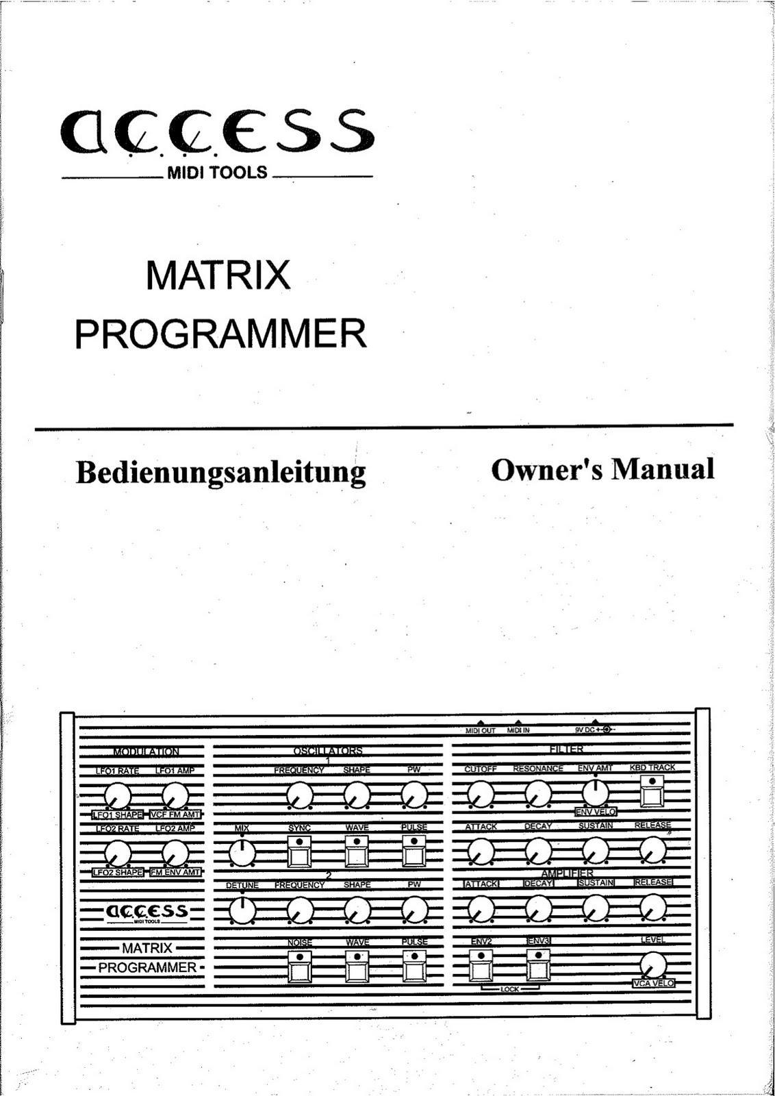 matrix manuals