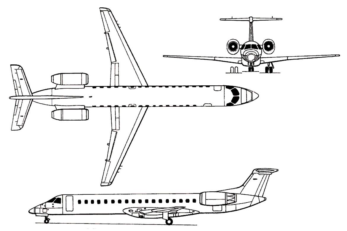 nhungdoicanh: Embraer ERJ-145 Amazon
