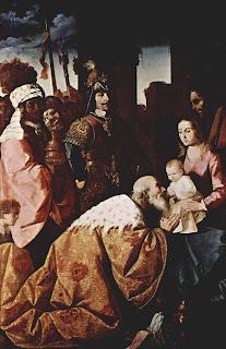 Adoración de los Reyes Magos, 1638, Francisco de Zurbarán, Museo de Grenoble