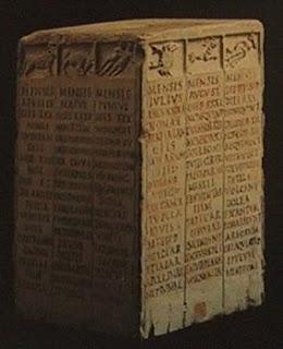 Calendario ordenado por signos zodiacales, Roma, Museo della civiltà romana