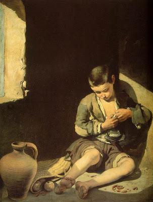 El joven mendigo, Murillo, 1645. Museo del Louvre, París