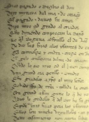 Manuscrito del Cantar del Mío Cid, conservado en la Bilblioteca Nacional (Madrid)