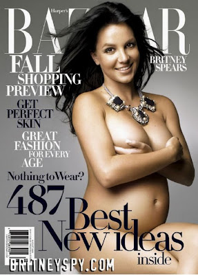 bitney spears naked pics without any dress, fully nude bazaar cover story picture when she was pregnant