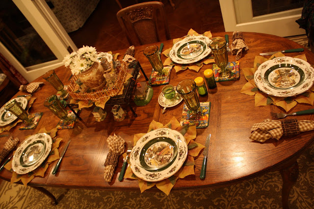 Fall cottage-themed Tablescape
