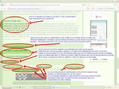 publicar comentarios, crear vinculo al post, suscribirse a comentarios