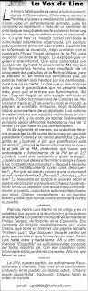La Voz de Lina (Columna en El Nuevo País)