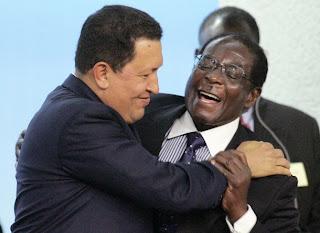 Venezuela dejará de enviar petróleo a Estados Unidos - Chávez y Mugabe