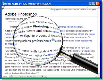 Magnifying glass effect in Photoshop   Photoshopper27