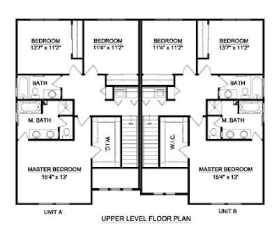 Duplex On Corner Lot House Plans With Garage. Duplex. Home Plan ...