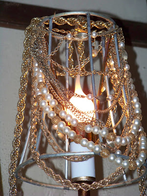 My newest danglies are on a hanging candle holder that my sister gave ...