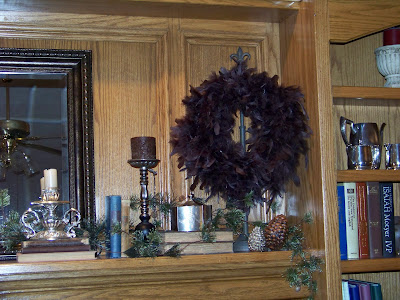 Silver Trappings: How to Make A Feather Wreath - Cheap!