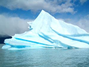 Icebergs no lago argentino