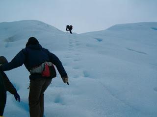 Subindo a geleira Perito Moreno