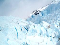 Fendas azuis no Perito Moreno