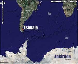Ushuaia e o continente Antártico