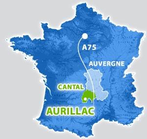 Carte d'Aurillac