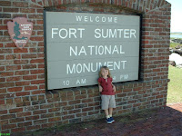 Fort Sumter entrance sign
