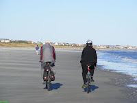 Bicycling at the beach