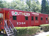 Clemson Southern train photo at SC Botanical Garden