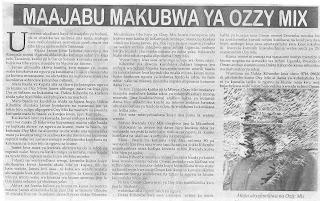 MAAJABU MAKUBWA YA OZZY MIX