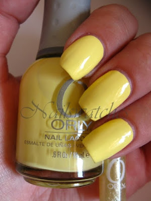orly lemonade pastel yellow nail polish creme