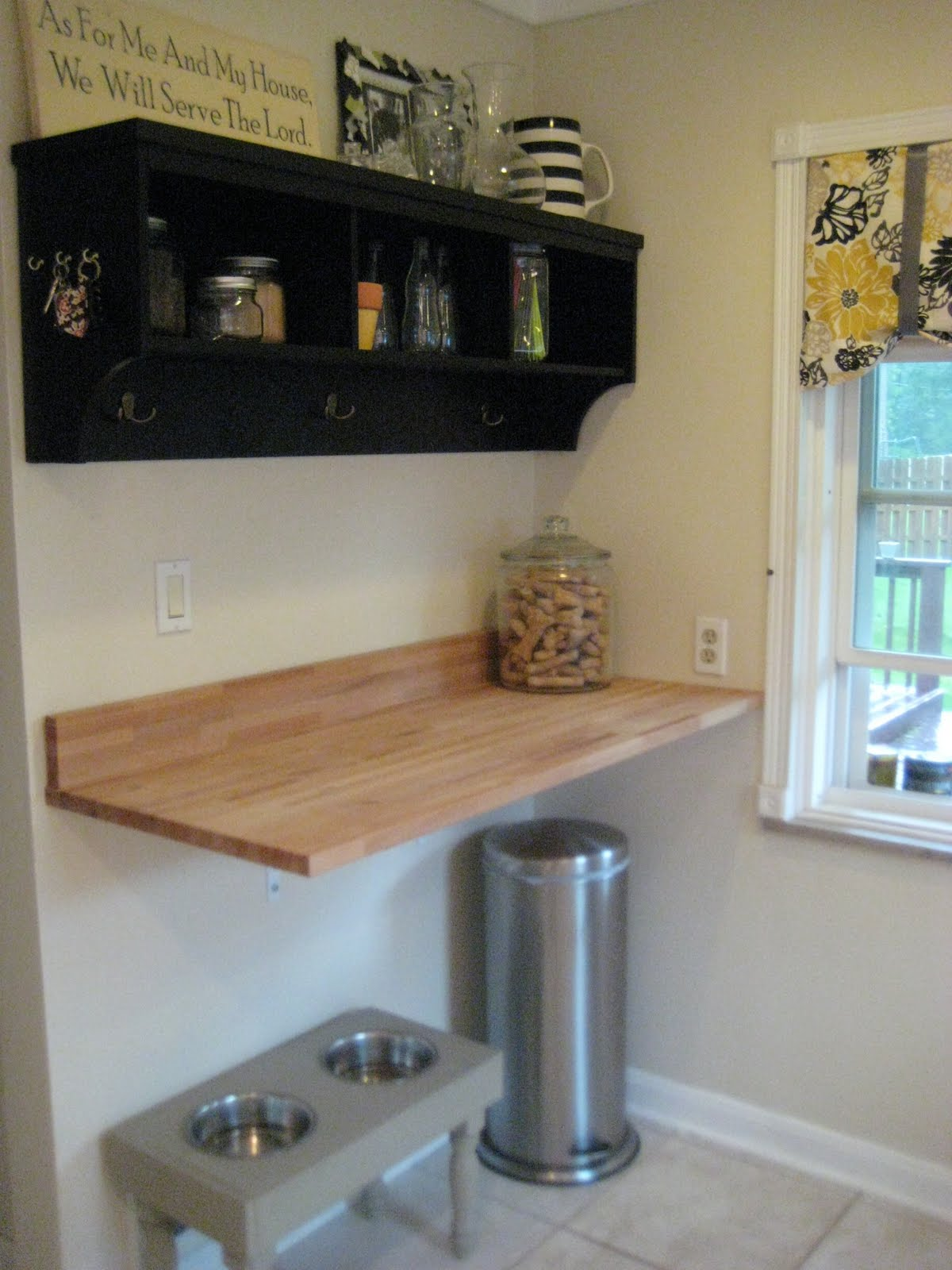 Floating Countertop Supports Little And Lovely Butcher Block