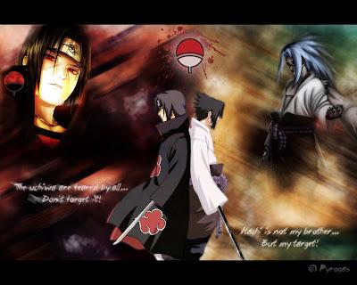 Uchia Itachi vs. Uchiha Sasuke Wallpaper
