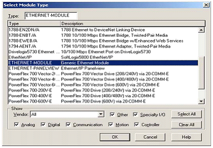 Set Up EthernetIP for ControlLogix 5000