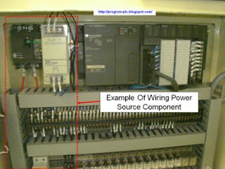Layout Of Wiring Power Source Component in PLC