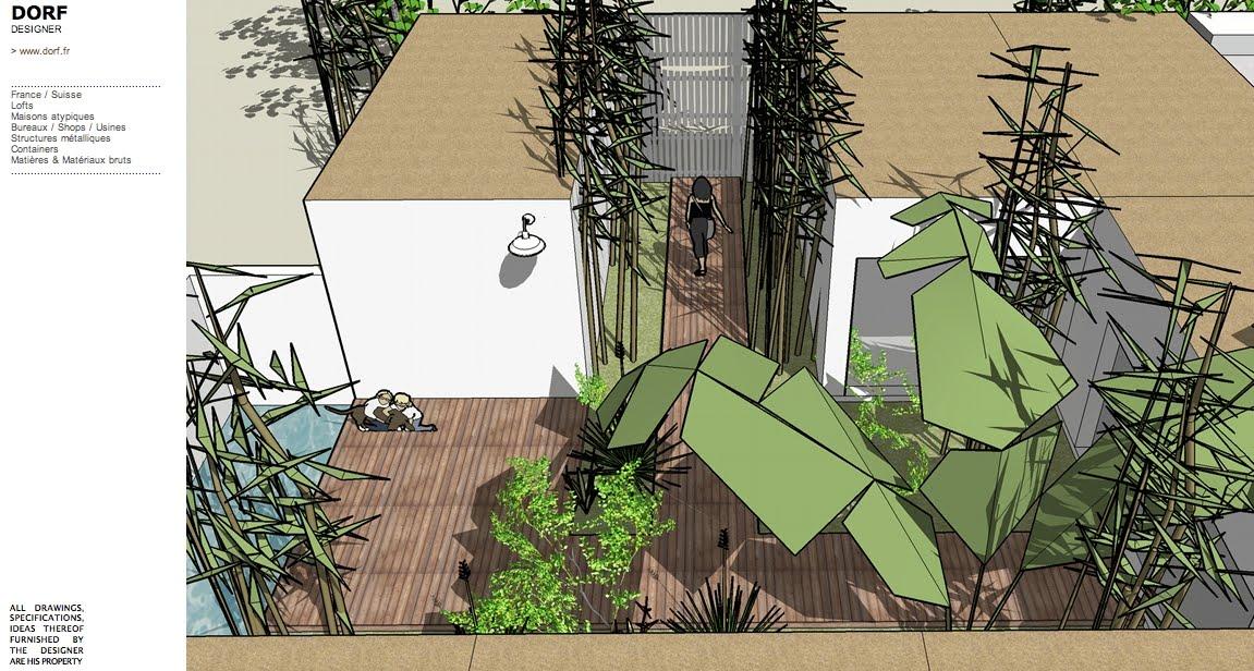 Dorf fr designer d57 patio breton for Plan maison avec patio