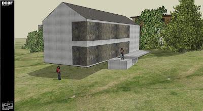 dorf fr designer d69 maison contemporaine beton banche. Black Bedroom Furniture Sets. Home Design Ideas